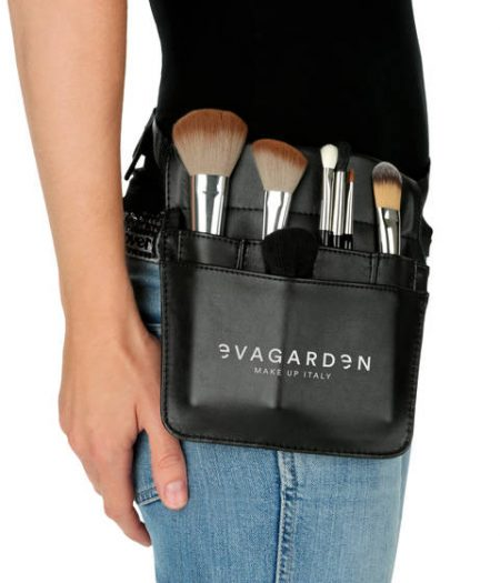 Evagarden Cosmetics Leather Material Brush Holder Belt - Evagarden Makeup Products Australia